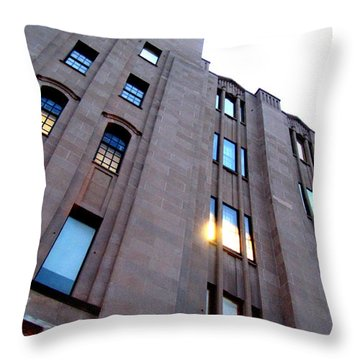 Bell Building Throw Pillow by Danielle  Parent