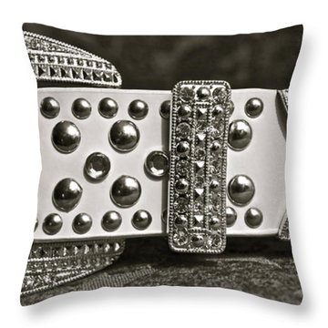 Belt Bling Throw Pillow by Gwyn Newcombe