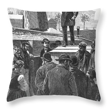 Berlin: Sermon On Barge Throw Pillow by Granger