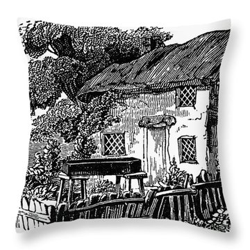 Bewick: Rural House Throw Pillow by Granger