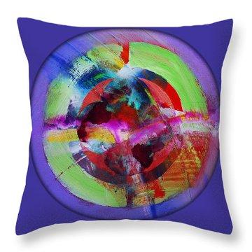 Big Bang Blue Throw Pillow by Charles Stuart