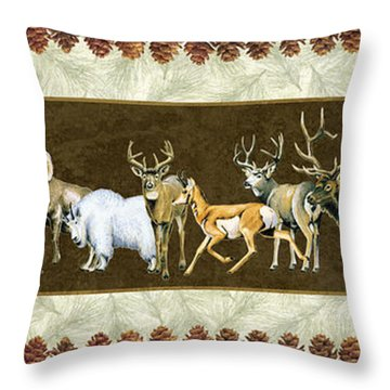 Big Game Lodge Throw Pillow by JQ Licensing