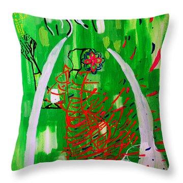 Bikira Maria - Rosa Mystica Throw Pillow by Gloria Ssali
