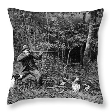 Bird Shooting, 1886 Throw Pillow by Granger
