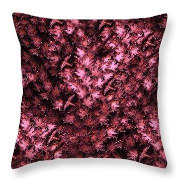 Birds In Redviolet Throw Pillow by David Dehner