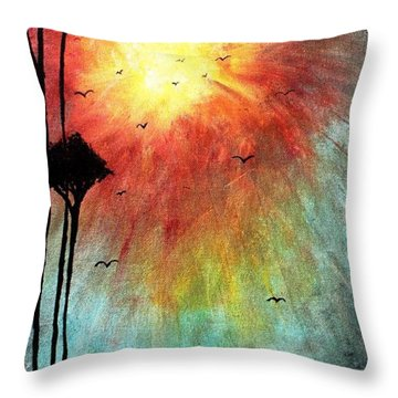 Birds Of The Sun Throw Pillow by Mike Grubb