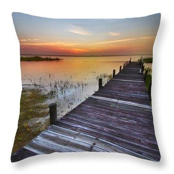 Bit Of Heaven Throw Pillow by Debra and Dave Vanderlaan