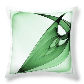 Bizarre Leaf Throw Pillow by Klara Acel