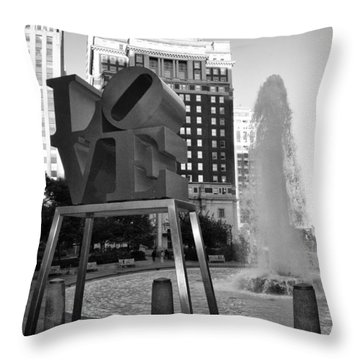 Black And White Love Throw Pillow by Bill Cannon