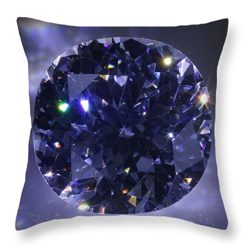 Black Diamond Throw Pillow by Atiketta Sangasaeng