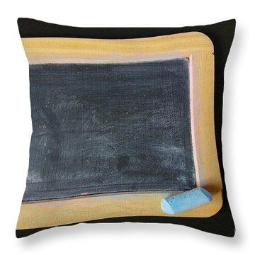 Blackboard Chalk Throw Pillow by Carlos Caetano