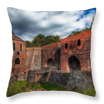 Blast Furnaces Throw Pillow by Adrian Evans