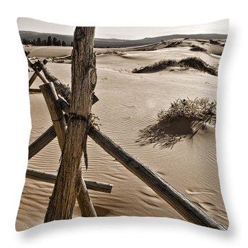 Bleak Throw Pillow by Heather Applegate