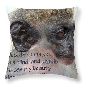 Blind Beauty Throw Pillow by Ian  MacDonald