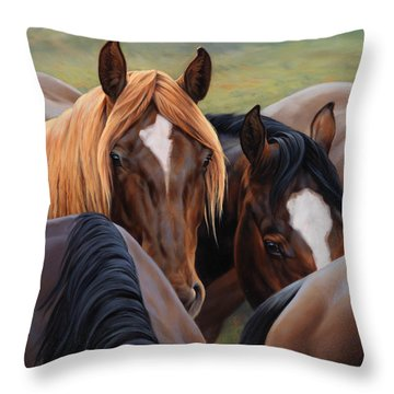 Blonde Moment Throw Pillow by JQ Licensing