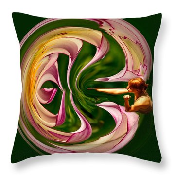 Blowing Up The World. Throw Pillow by Jean Noren