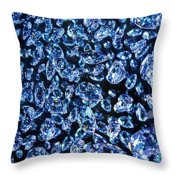Blue ... Throw Pillow by Juergen Weiss