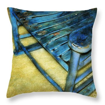 Blue Chair Throw Pillow by Judi Bagwell