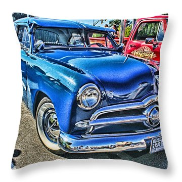 Blue Classic Hdr Throw Pillow by Randy Harris