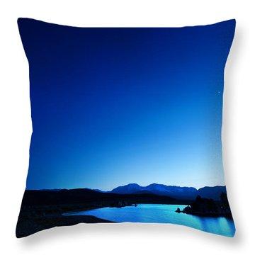 Blue Dusk Mono Lake Throw Pillow by Sylvia J Zarco