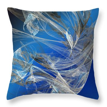 Blue Legacy Throw Pillow by Andee Design