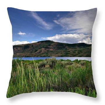 Blue Mesa Reservoir Throw Pillow by Michael Kirsh