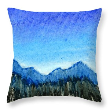 Blue Mountains Throw Pillow by Hakon Soreide