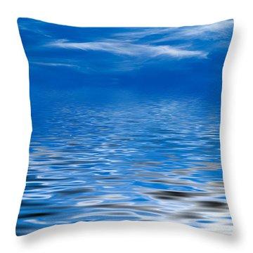 Blue Sky Throw Pillow by Kati Molin