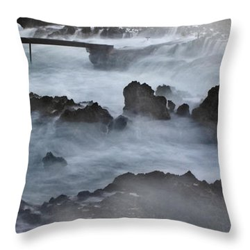 Blue Storm..protaras Throw Pillow by Stelios Kleanthous