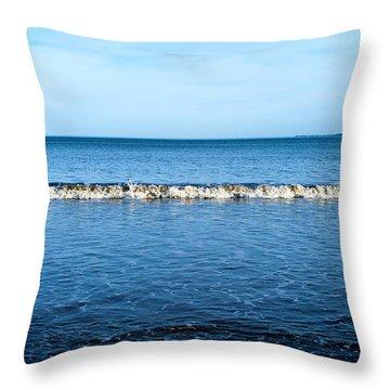 Blue Throw Pillow by Svetlana Sewell