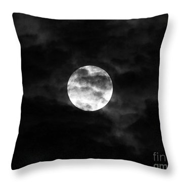 Blustery Blue Moon Throw Pillow by Al Powell Photography USA