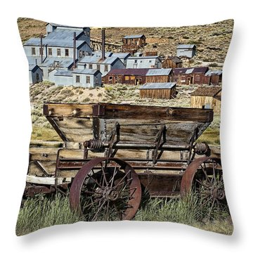Bodie Wagon Throw Pillow by Kelley King