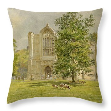 Bolton Abbey  Throw Pillow by Tim Scott Bolton