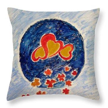 Bonding Throw Pillow by Sonali Gangane