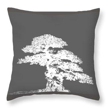 Bonsai I Throw Pillow by Ann Powell