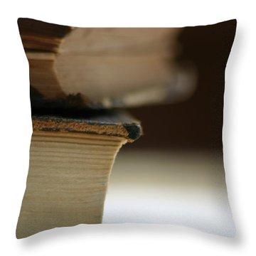 Books Throw Pillow by Kelly Hazel