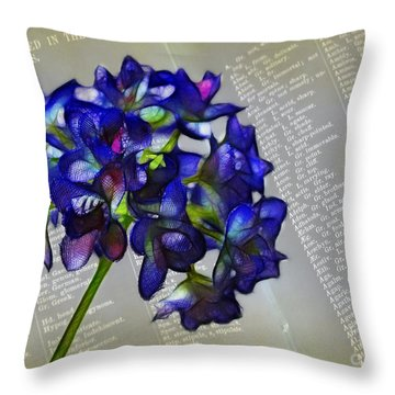 Botany Book Throw Pillow by Judi Bagwell