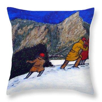 Boulder Christmas Throw Pillow by Tom Roderick