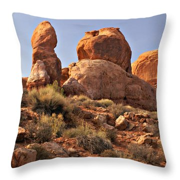 Boulder Landscape Throw Pillow by Marty Koch