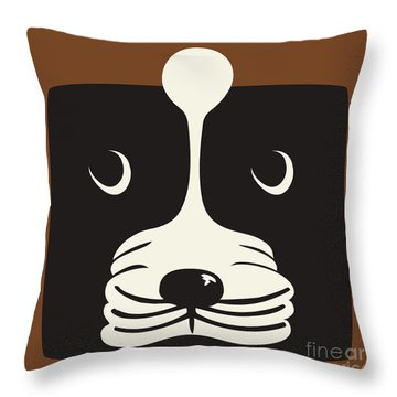 Boxer Throw Pillow by Laura Brightwood