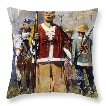 Boxer Rebellion, 1900 Throw Pillow by Granger