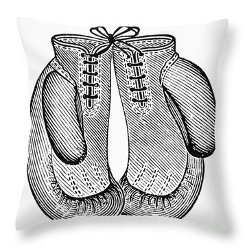 Boxing Gloves, C1900 Throw Pillow by Granger