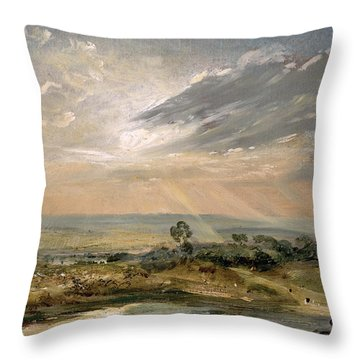 Branch Hill Pond Hampstead Throw Pillow by John Constable