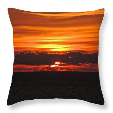 Break Of Dawn Throw Pillow by Eve Spring
