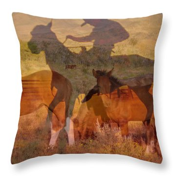 Breaking Sweat Busting Leather Throw Pillow by Mayhem Mediums
