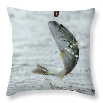 Breaking Water Throw Pillow by Kelly Rader