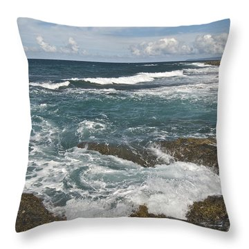 Breaking Waves 7919 Throw Pillow by Michael Peychich