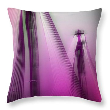 Bridge Cables One Throw Pillow by Marty Koch