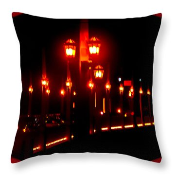 Bridge Of Lions Alit Throw Pillow by DigiArt Diaries by Vicky B Fuller