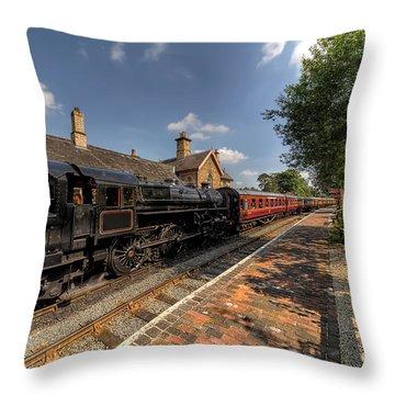 British Locomotion Throw Pillow by Adrian Evans
